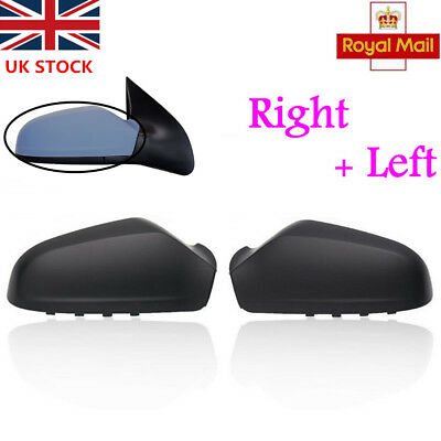 One Pair Left & Right Wing Door Mirror Cover For VAUXHALL ASTRA H MK5 2004-2009