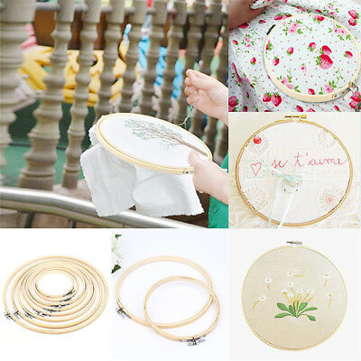 Bamboo Embroidery Frame Hoop Ring Cross Stitch Sewing DIY Art Craft Tool 13-40cm