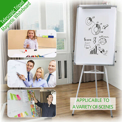 90x60CM Portable Magnetic Whiteboard Teaching Office Board Marker Eraser Button