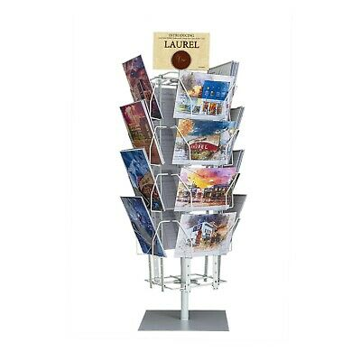"""Up to 9.9"""" Wide 16 Adjustable Pockets Greeting Card Rack Post Card Display"""