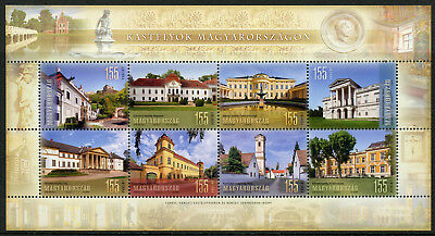 Hungary 2018 MNH Castles in Hungary 8v M/S Tourism Castle Architecture Stamps