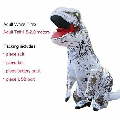 New Inflatable T-Rex Costumes Dinosaur Fancy Dress Giant 2m Adult
