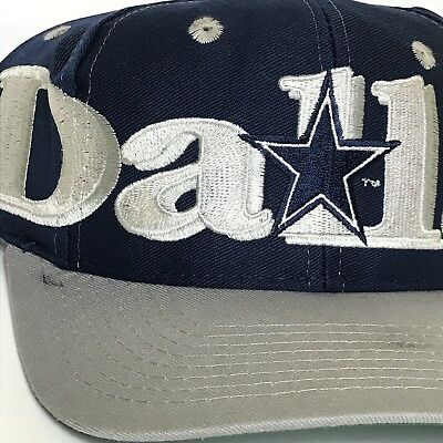 c779c3cc299b23 ... purchase vintage dallas cowboys hat snapback cap mens blue nfl football  90s logo 7 text f65c2 ...