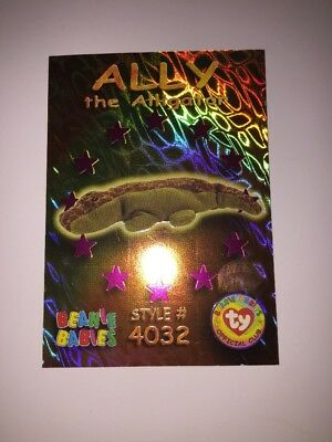e40b24f9c03 Beanie Baby Trading Card - Holographic Ally the Alligator  4032  Card 46