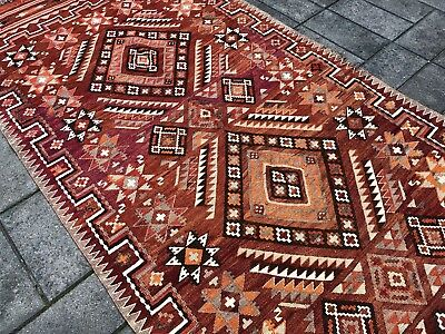 Handmade Afghan Turkish Kilim Floor Rug 390 X 140 cm Wool Kilim Large Old Kilim