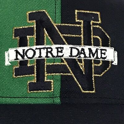 VINTAGE 90s Notre Dame Fighting Irish Snapback Hat Cap College NCAA Pinwheel VTG