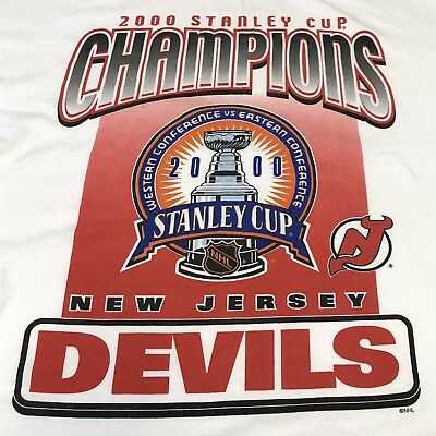 9a69a4df2 VINTAGE New Jersey Devils Shirt Mens XL NHL Hockey 2000 Stanley Cup  Champions