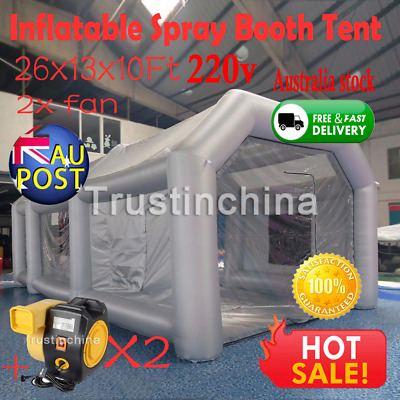 8*4*3M Inflatable Car Tent Spray Booth Paint For Mobile Work Station+220V Blower