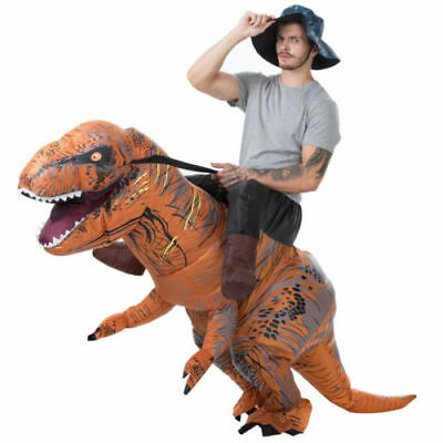 Ride On Adult Deluxe Inflatable Dinosaur T Rex Costume Outfit Suit Halloween