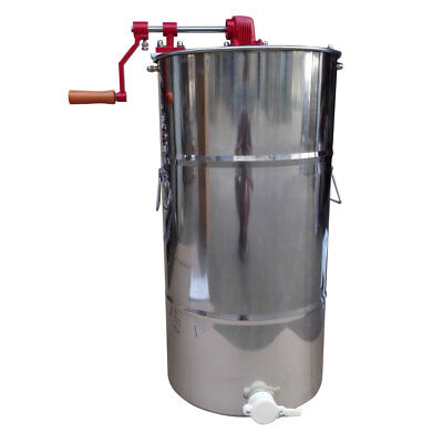 Large 2 Frame Stainless Steel Honey Extractor Beekeeping Equipment Manual Two