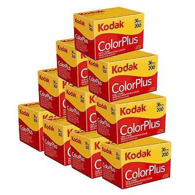 10 x Kodak Colorplus 200 35mm 36Exp -  CHEAP Colour Print Film