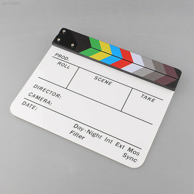 CE04 New Colorful Clapperboard Acrylic Movie Video Action Slate Stick Handmade