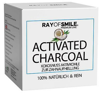 Activated Charcoal 100% Natural Teeth Whitening Powder Coconut 60g Family Supply