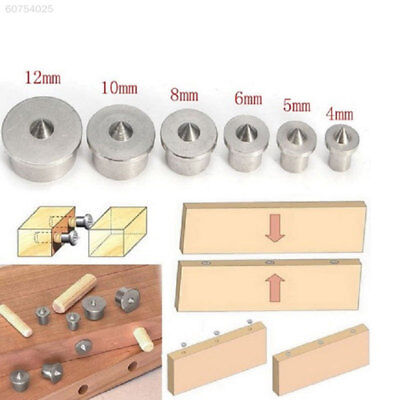 3900 Professional 6pcs Dowel Centre Point Pin 4~12mm Tenon Center Drill Hole Too