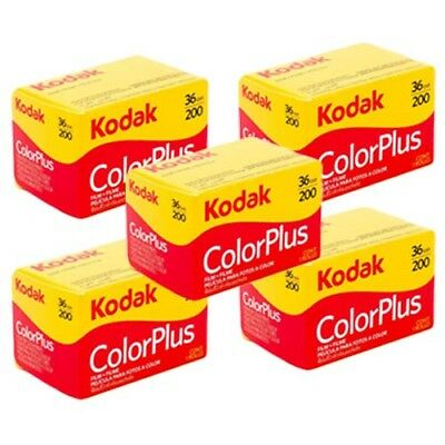 5x Kodak Colorplus 200 35mm 36Exp -  CHEAP Colour Print Film