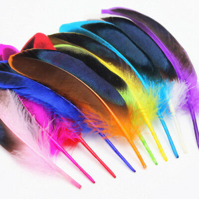 Beautiful natural wild duck feather 4-6inches/10-15cm DIY jewelry accessories