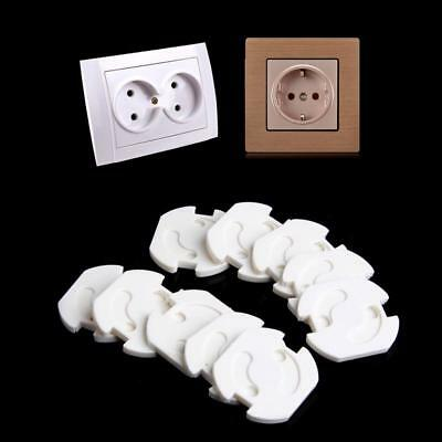 10pcs Eu Safety Electric Outlet Plug Protector Cover And Child Proof Shock Guard
