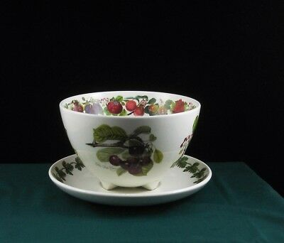 Rare Portmeirion Pomona Fruit Drainer Bowl with Underplate