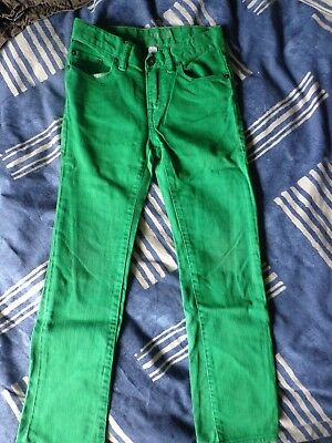 GAP KIDS 1969 Boys Skinny Green Jeans Ages 7 Good worn condition