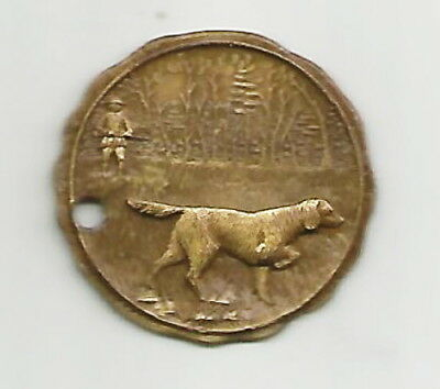 Original 1940's Sportsman's Digest  Pointer Dog Cinn., Ohio Return Key Chain