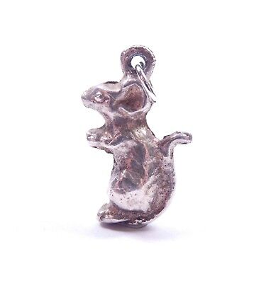 Vintage Charm Rat Solid Small 925 Sterling Silver 3.5g