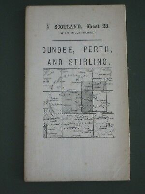 Vintage 1913 Map -  Scotland Sheet 23 - Dundee, Perth and Stirling