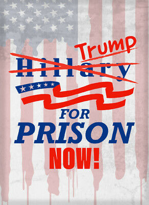 Trump for Prison Now! Presidential Poster Style Design Refrigerator Magnet New