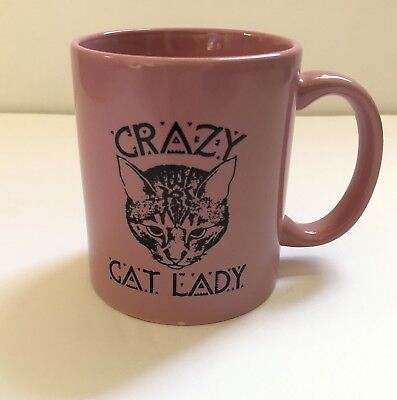 Crazy Cat Lady Mug/coffee Cup, Pink, New Without Box