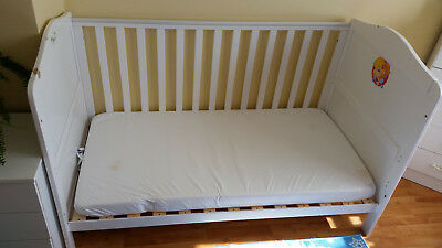 3in 1 Wooden Baby Cot Bed withFOAM SAFETY MATTRESS