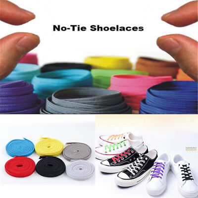 Elastic No Tie Shoelaces Sports Trainer Running Athletic Sneaks Shoe laces DIY #