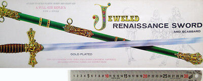 Palmer 1/1 Scale Jeweled Renaissance Sword And Scabbard Gold Plated Replica C60