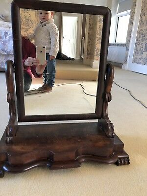 Antique Mahogany Style Dressing Table Mirror