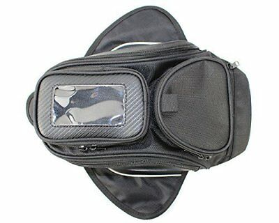 Motorcycle Oil Fuel Tank Bag Magnetic Motorbike Riding Bag Black Waterproof