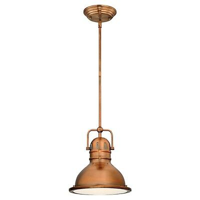 Copper Pendant Light Vintage Fixture Industrial Mini Rustic Indoor Kitchen Retro