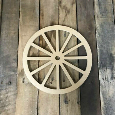 Wagon Wheel Shape, Unfinished Shape, MDF Wood Cutout, Wooden Paintable Craft