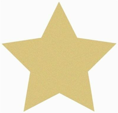 Wood Star Shape Unfinished MDF Cutout Wooden Paintable Craft
