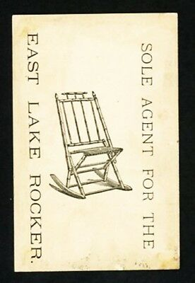 East Lake Rocker Advertising Trade Card - Illustrated on Card Back