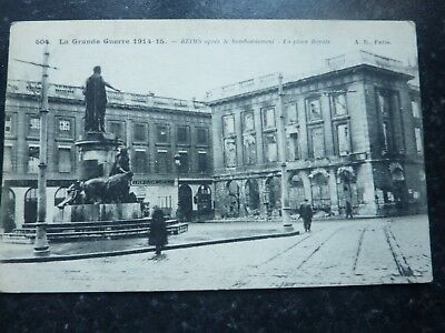 Ww1 Postcard 1915 - Reims - Royal Palace After The Bombardment