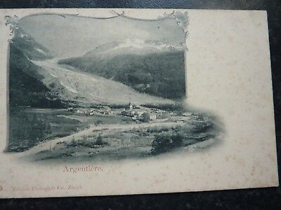 Vintage Postcard Early 1900's - Village Of Argentieres - French Alps - Undv Back