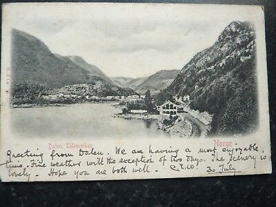 Antique Postcard 1902 - View Of Dalen - Norway - Undivided Back