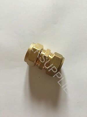 Straight Coupler Coupling Reducing Fitting15mm x 16mm Brass Compression Reducer