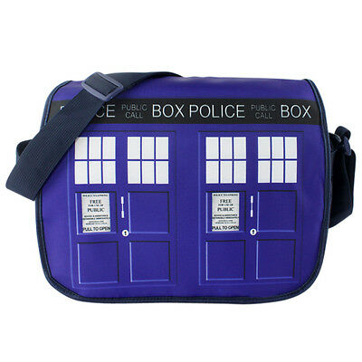 New Doctor Who Tardis Police Box At Snowing Winter Shoulder Messenger Bag 2015