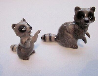 Pair Miniature Hagen Renaker Raccoon Figures