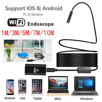 8 LED HD Wireless Wifi Mobile Phone Endoscope Borescope Inspection Video Camera
