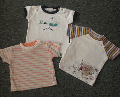 Lot de 3 tee-shirts taille 6 mois