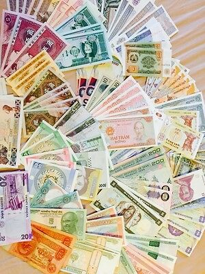 Lot of 50 Pcs Different Banknotes World Paper Money Set Currency UNC From Bundle
