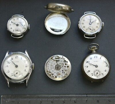 JOB LOT of Vintage 1930s/1940s Cyma Watches for SPARES/REPAIR