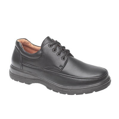 Mens Boys Black Lightweight Laceup School Formal Shoes UK Sizes 7 8 9 10 11 12
