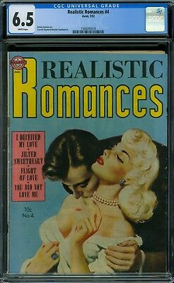 Realistic Romances 4 CGC 6.5 - White Pages