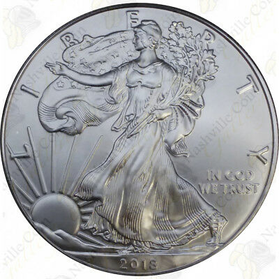 2018 1 Oz American Silver Eagle – Brilliant Uncirculated – Sku #1412